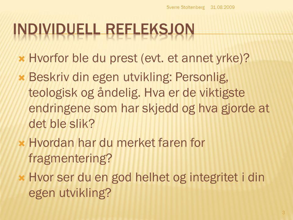 INDIVIDUELL REFLEKSJON