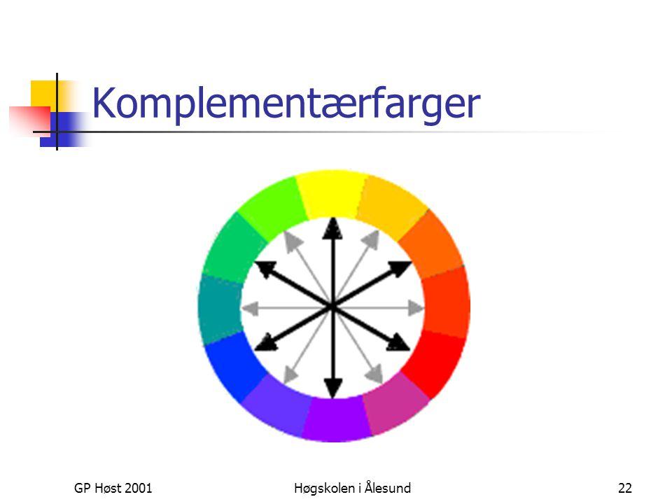 Komplementærfarger GP Høst 2001 Høgskolen i Ålesund