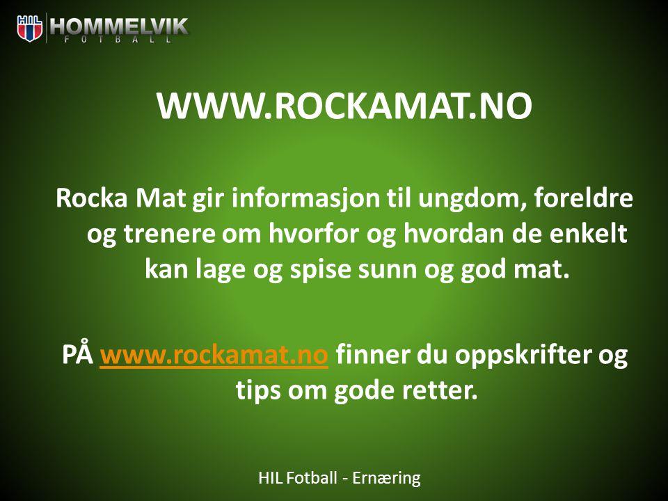 PÅ www.rockamat.no finner du oppskrifter og tips om gode retter.