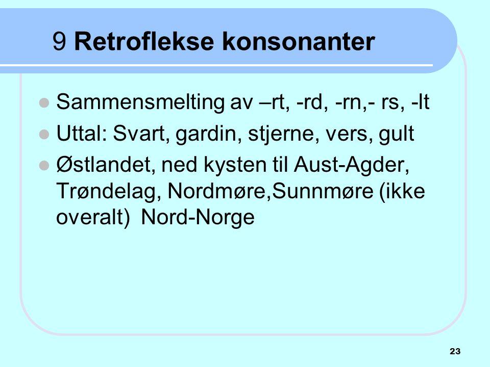 9 Retroflekse konsonanter