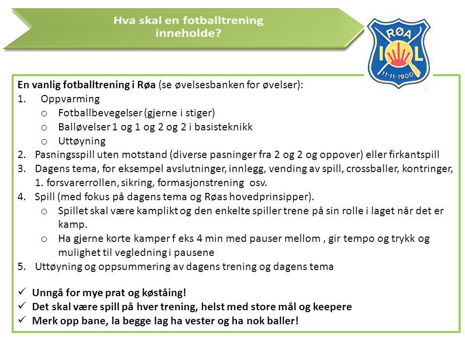 Hva skal en fotballtrening inneholde