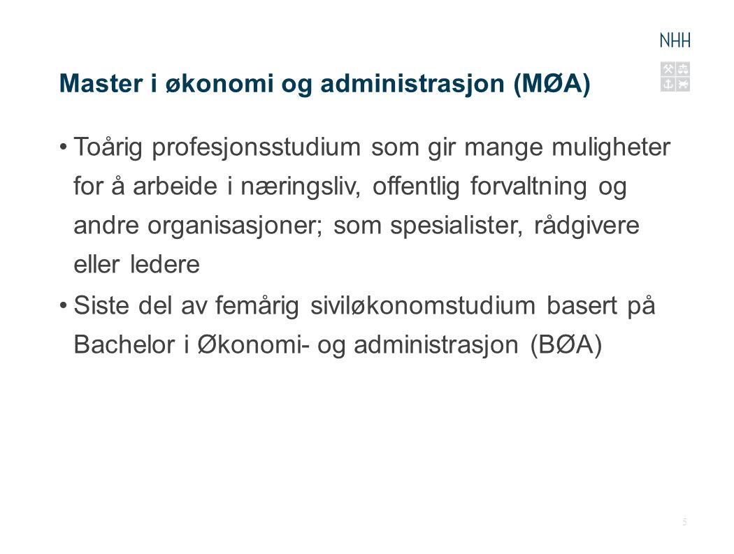 Master i økonomi og administrasjon (MØA)