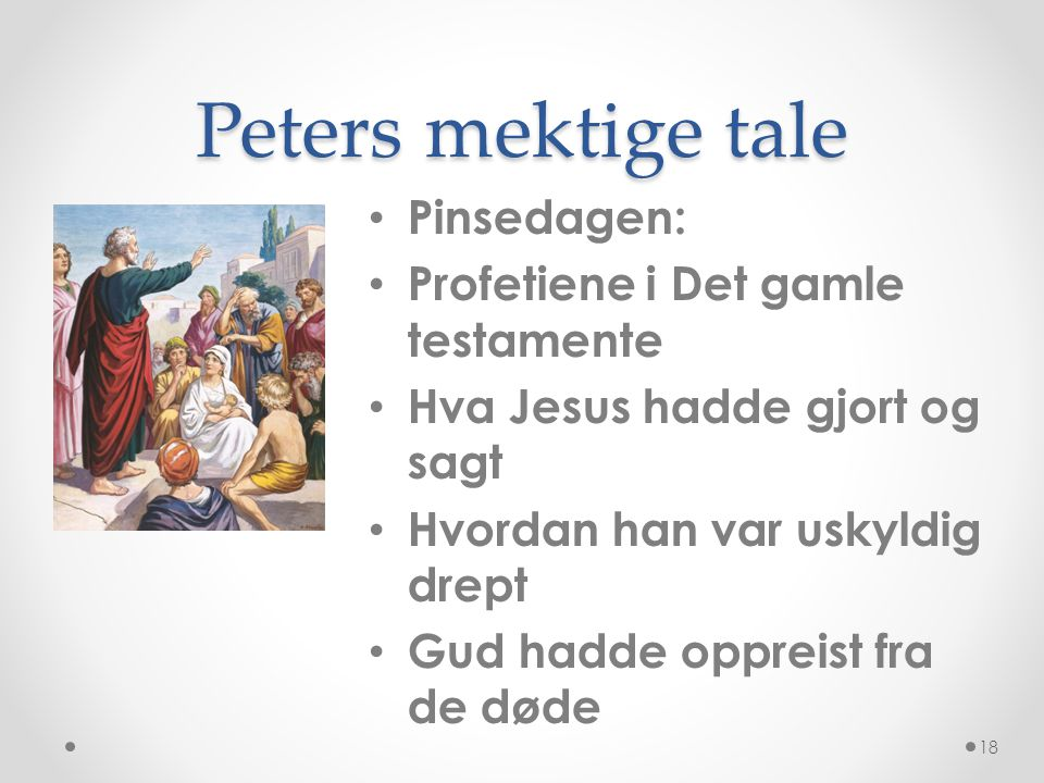 Peters mektige tale Pinsedagen: Profetiene i Det gamle testamente