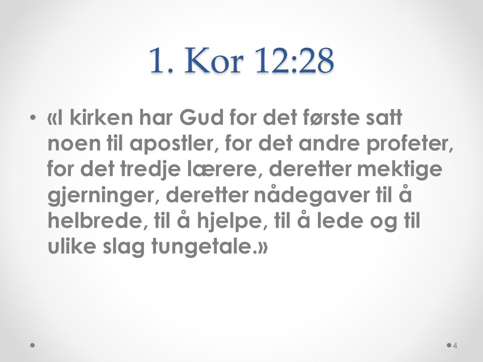 1. Kor 12:28