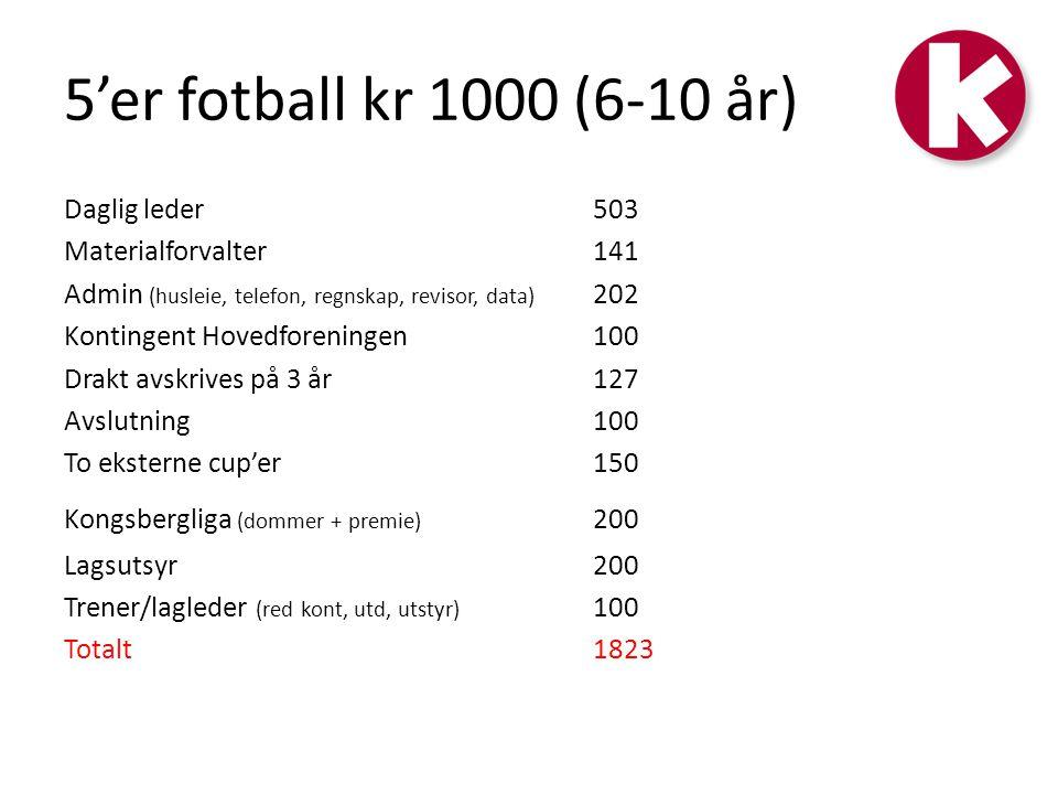 5'er fotball kr 1000 (6-10 år)