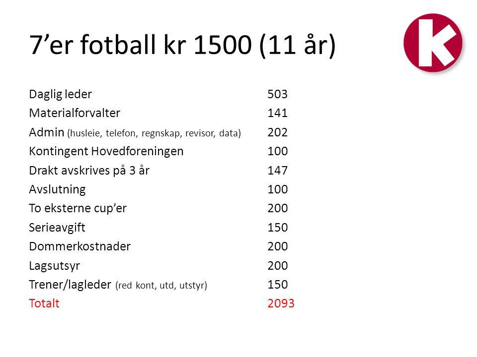 7'er fotball kr 1500 (11 år)
