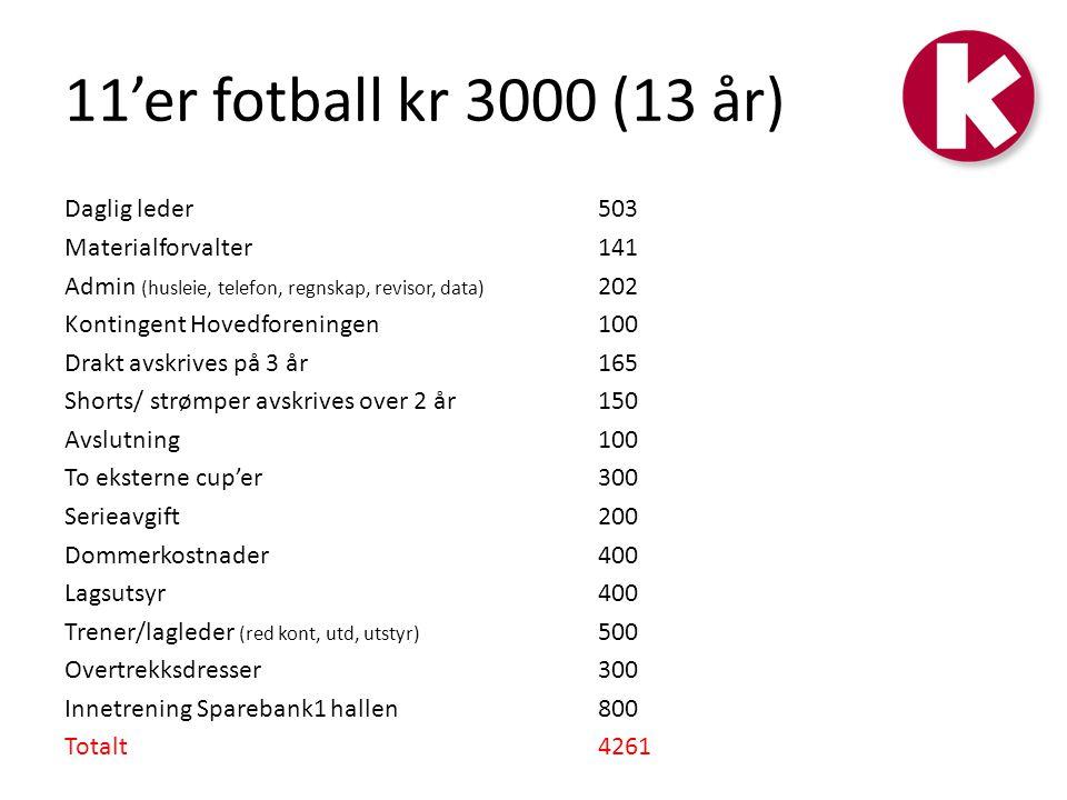 11'er fotball kr 3000 (13 år)
