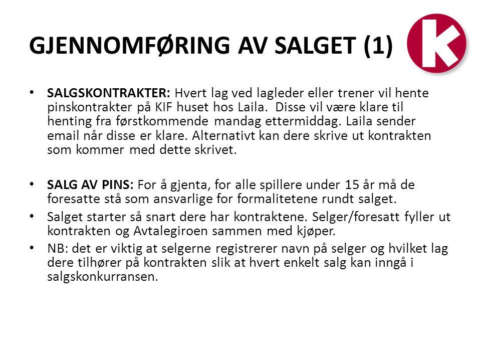 GJENNOMFØRING AV SALGET (1)