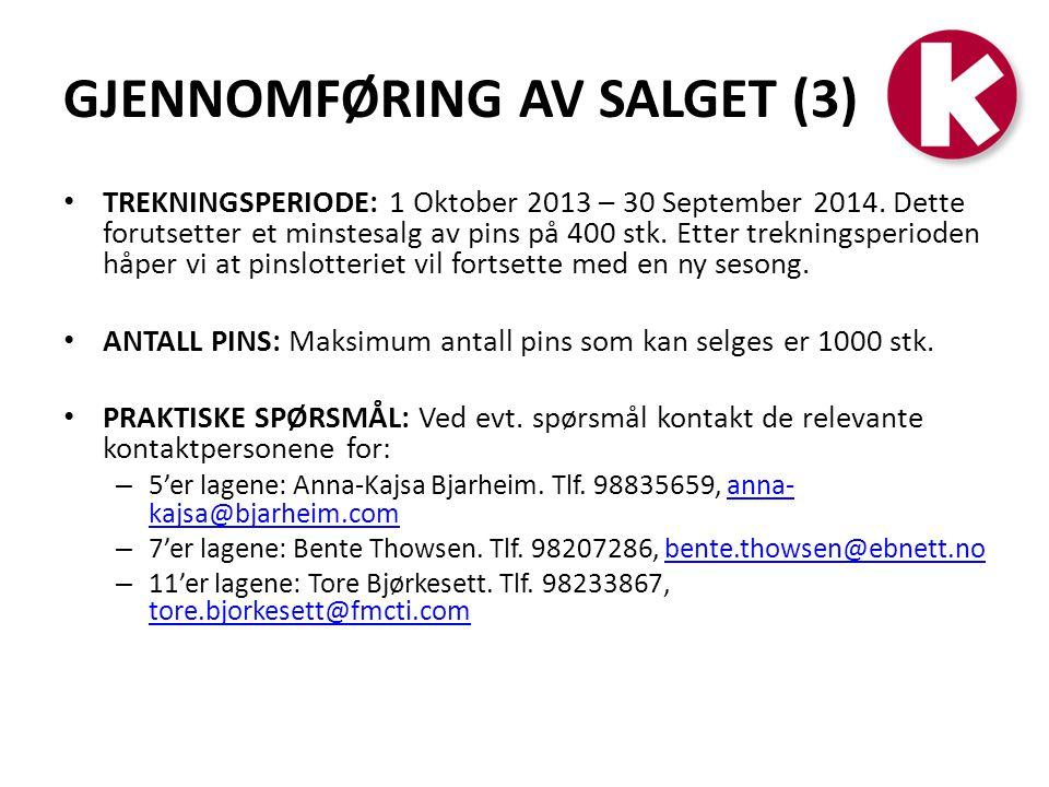 GJENNOMFØRING AV SALGET (3)