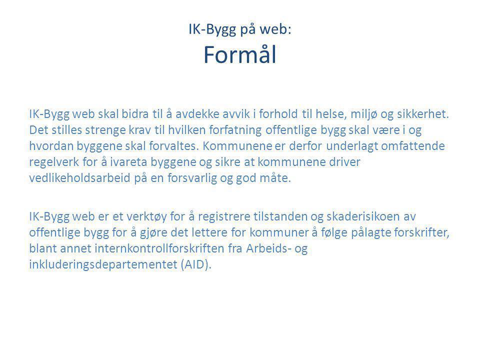 IK-Bygg på web: Formål