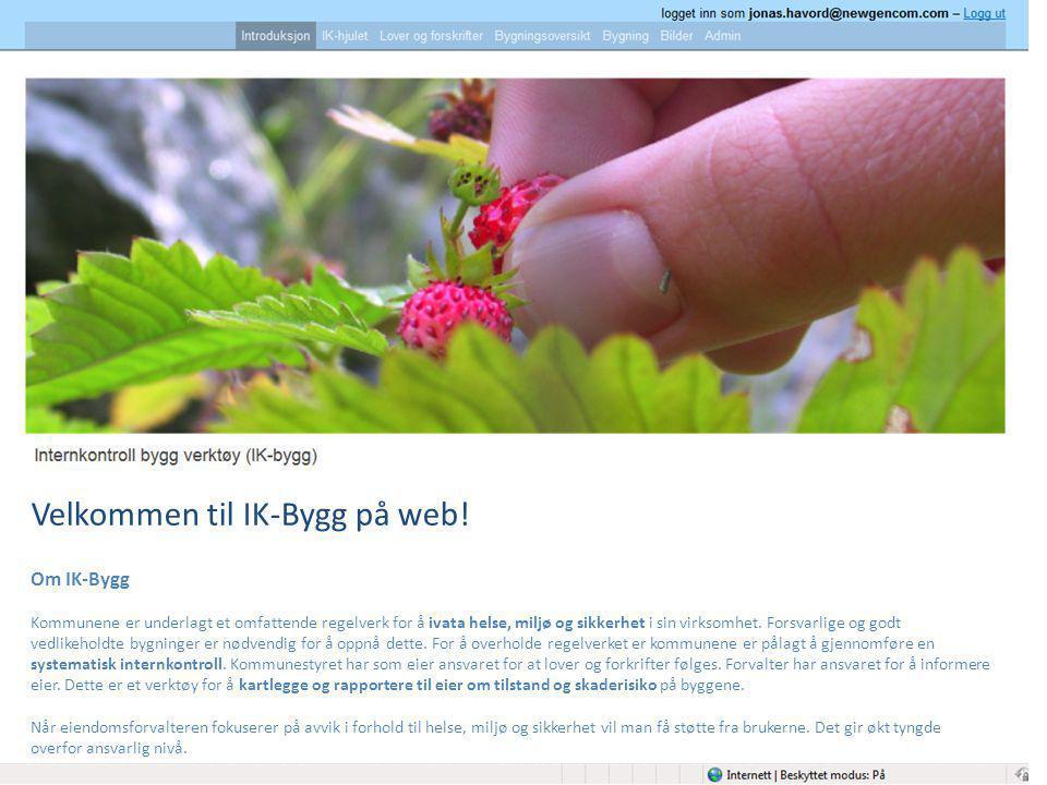 Velkommen til IK-Bygg på web!