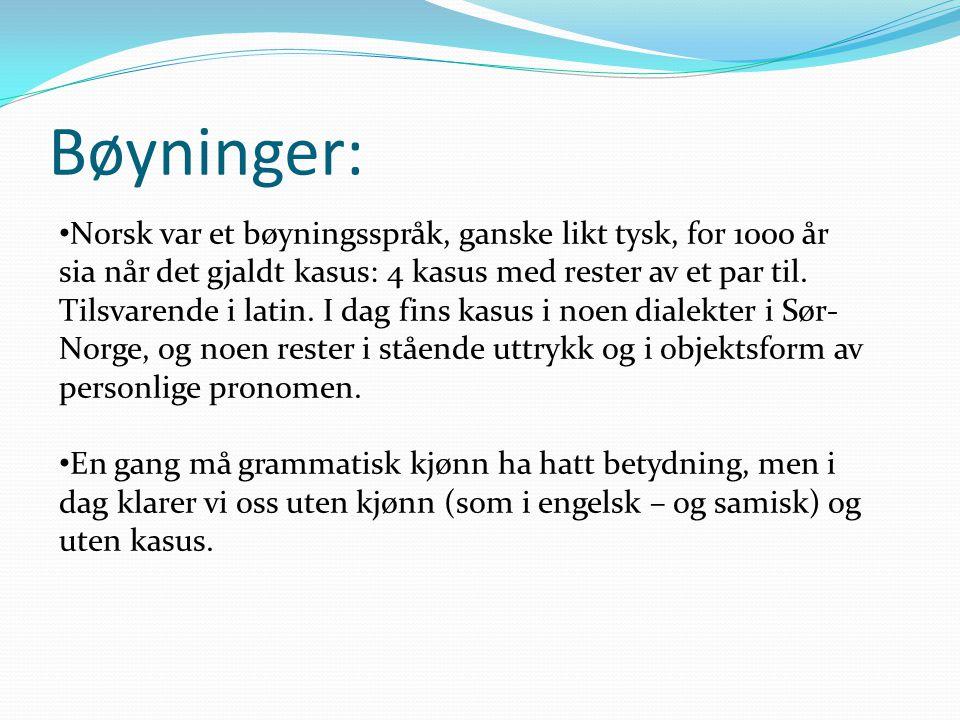 Bøyninger: