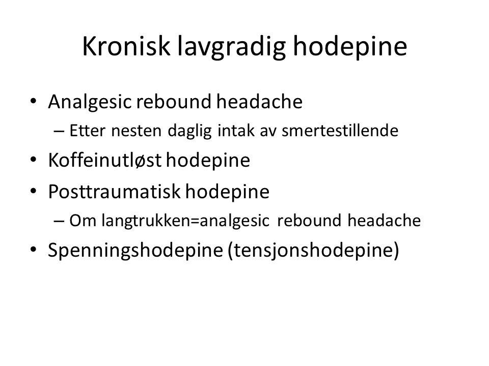 Kronisk lavgradig hodepine