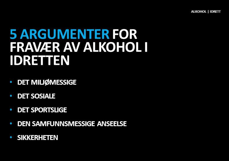 5 argumenter for fravær av alkohol i idretten