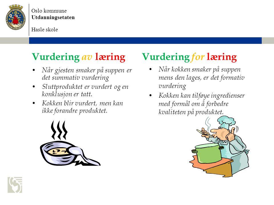 Vurdering av læring Vurdering for læring