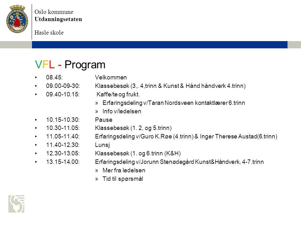 VFL - Program 08.45: Velkommen