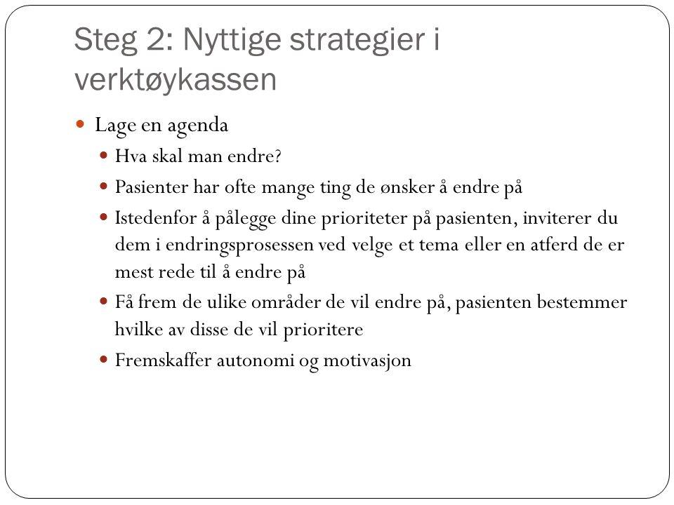 Steg 2: Nyttige strategier i verktøykassen