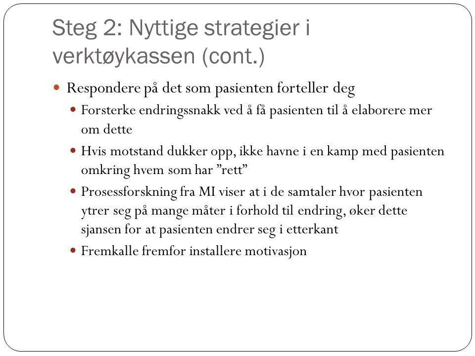 Steg 2: Nyttige strategier i verktøykassen (cont.)