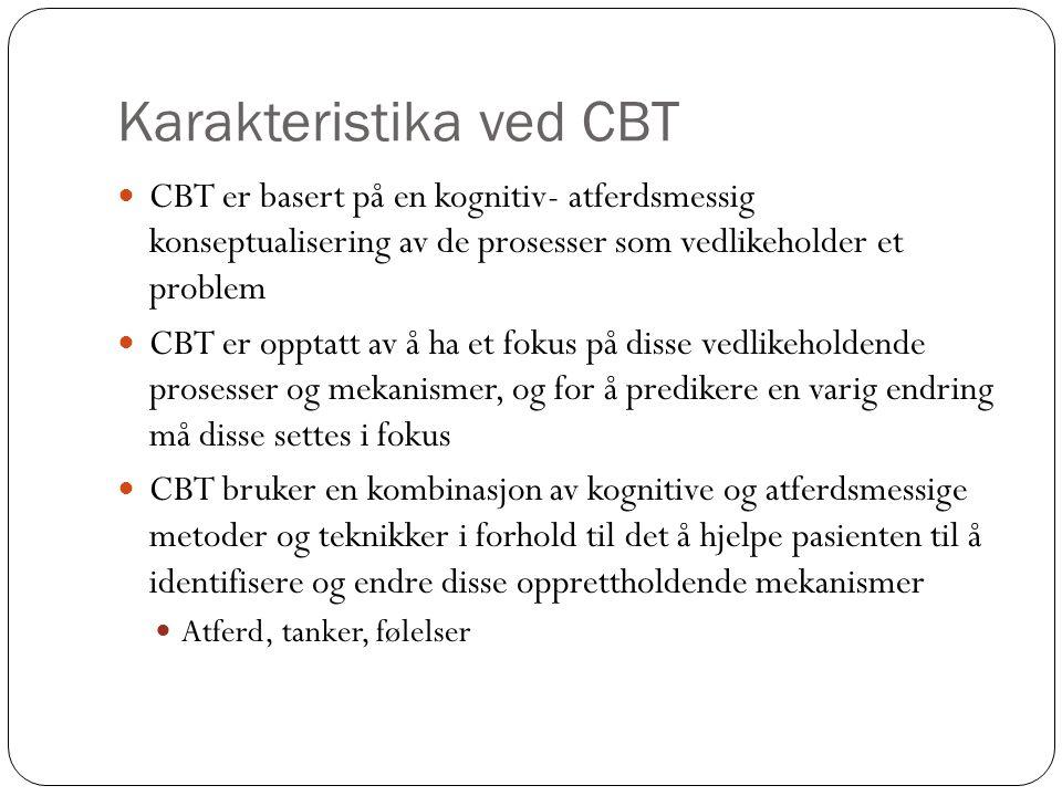 Karakteristika ved CBT