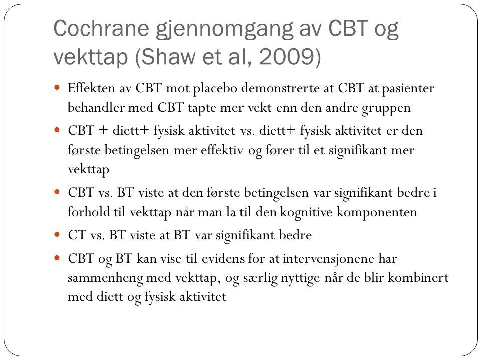Cochrane gjennomgang av CBT og vekttap (Shaw et al, 2009)