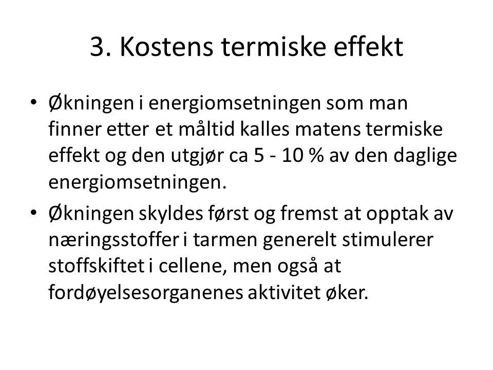 3. Kostens termiske effekt