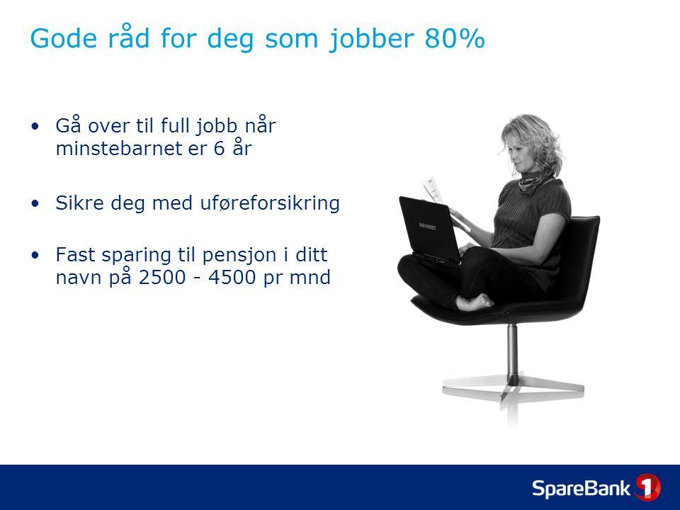 Gode råd for deg som jobber 80%