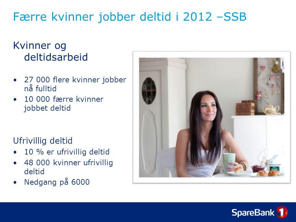 Færre kvinner jobber deltid i 2012 –SSB