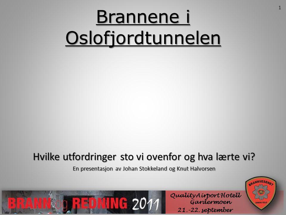 Brannene i Oslofjordtunnelen