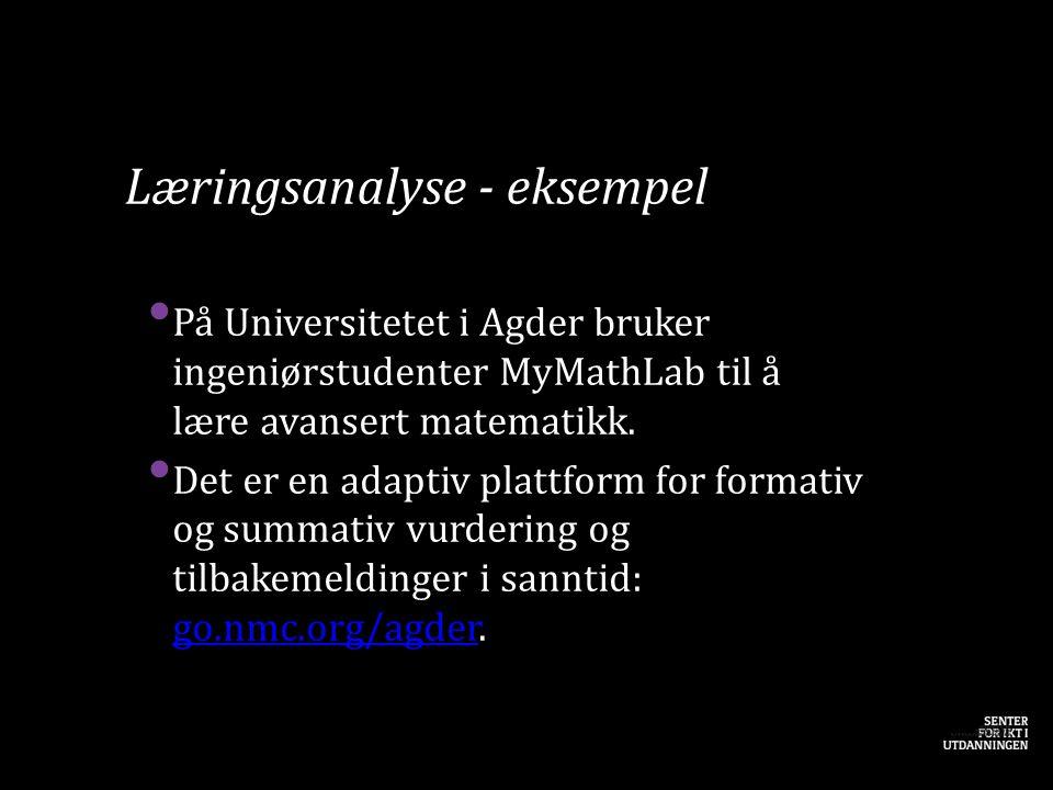 Læringsanalyse - eksempel