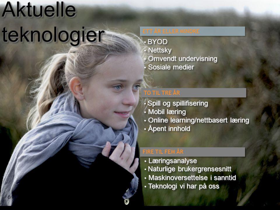 Aktuelle teknologier BYOD Nettsky Omvendt undervisning Sosiale medier