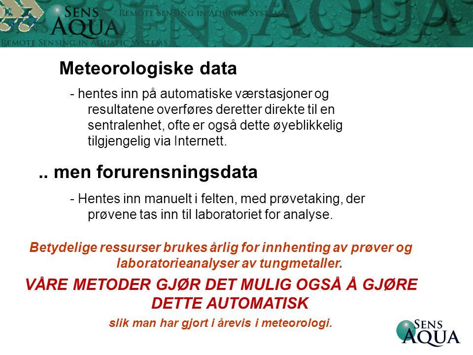 Meteorologiske data .. men forurensningsdata