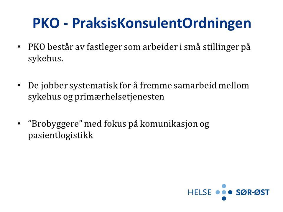 PKO - PraksisKonsulentOrdningen