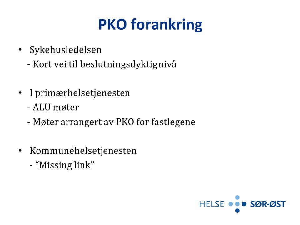 PKO forankring Sykehusledelsen - Kort vei til beslutningsdyktig nivå