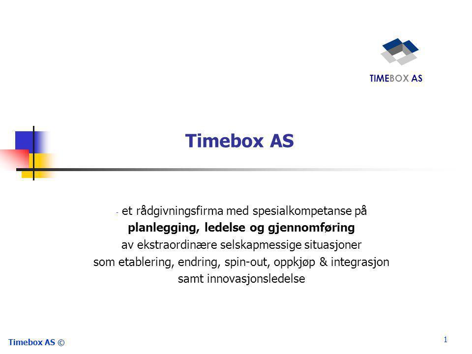 Timebox AS et rådgivningsfirma med spesialkompetanse på