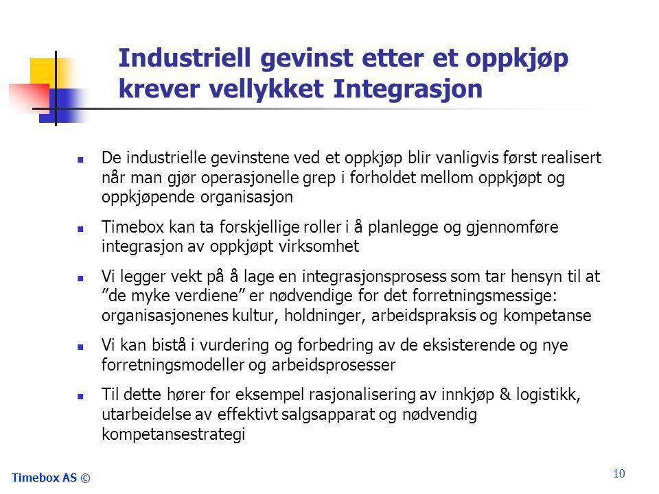 Industriell gevinst etter et oppkjøp krever vellykket Integrasjon