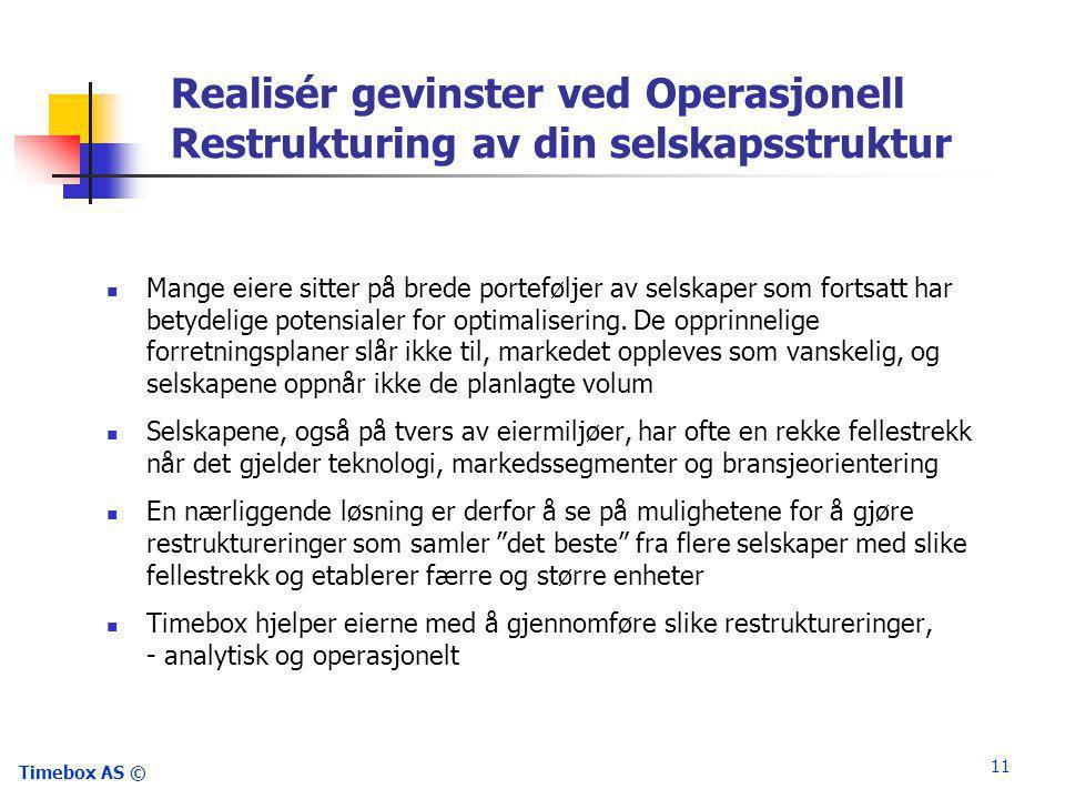Realisér gevinster ved Operasjonell Restrukturing av din selskapsstruktur