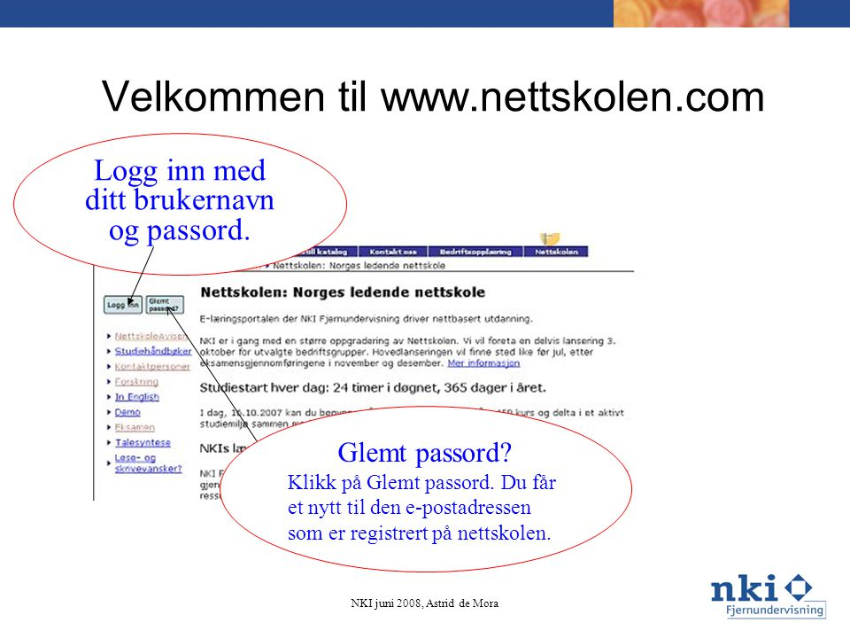 Velkommen til www.nettskolen.com