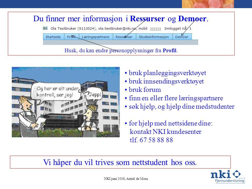 Du finner mer informasjon i Ressurser og Demoer.