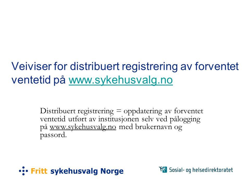 Veiviser for distribuert registrering av forventet ventetid på www
