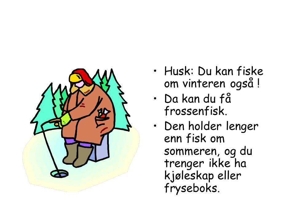 Husk: Du kan fiske om vinteren også !