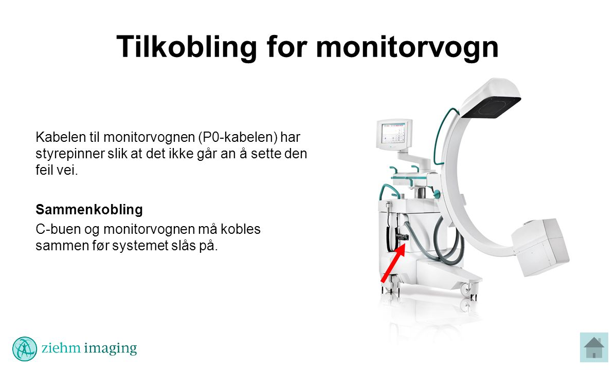 Tilkobling for monitorvogn