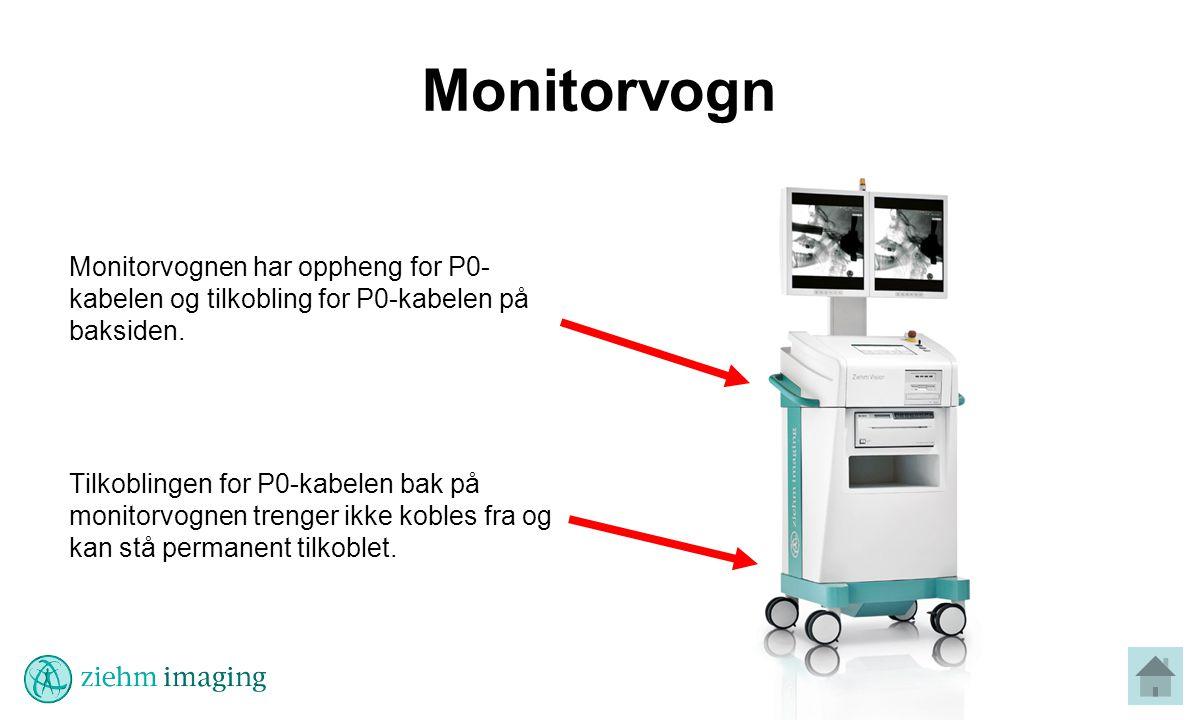 Monitorvogn Monitorvognen har oppheng for P0-kabelen og tilkobling for P0-kabelen på baksiden.