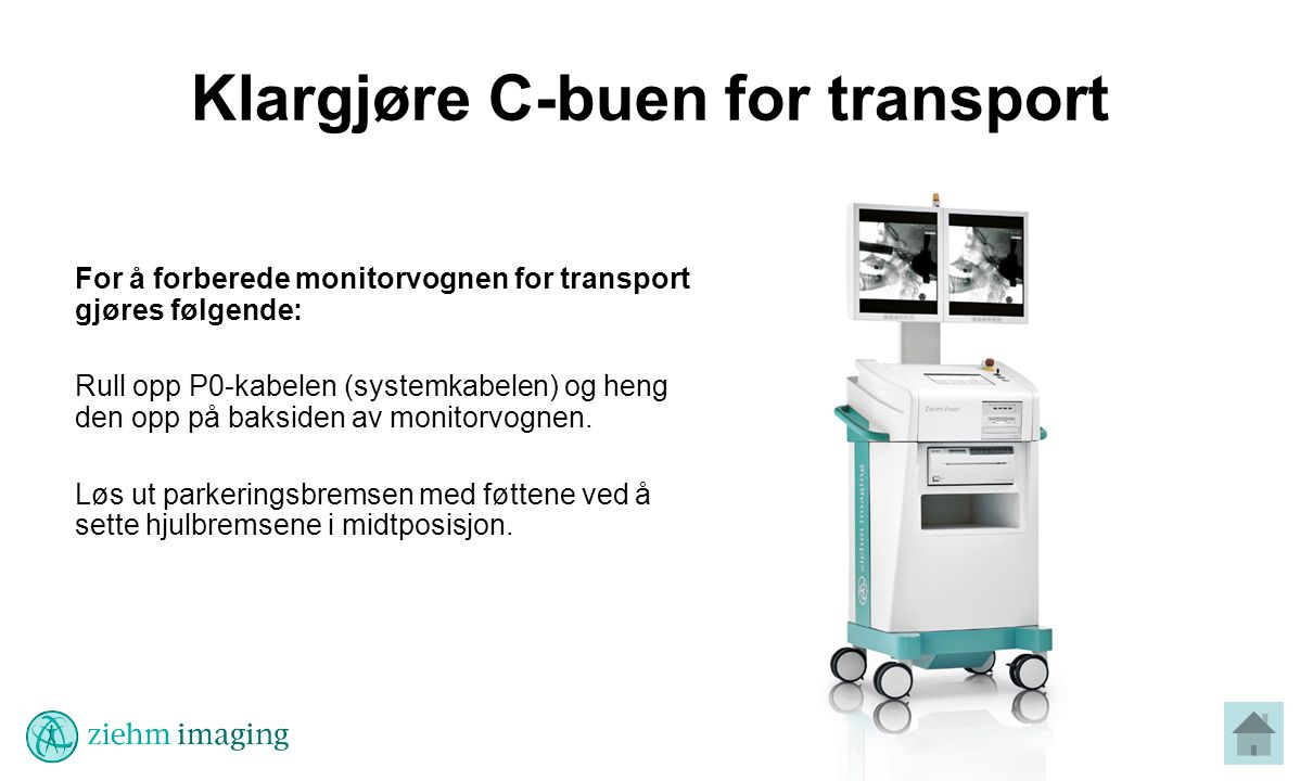 Klargjøre C-buen for transport