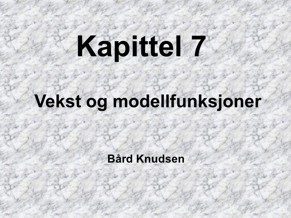Kapittel 7 Vekst og modellfunksjoner Bård Knudsen
