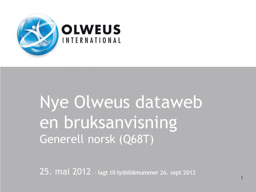 Nye Olweus dataweb en bruksanvisning Generell norsk (Q68T)