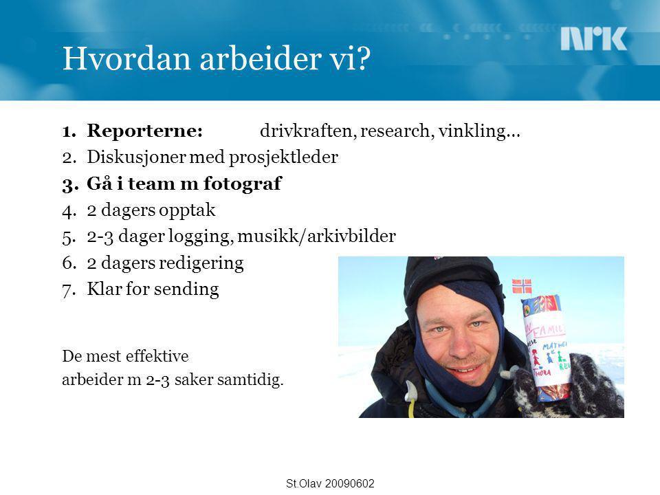 Hvordan arbeider vi Reporterne: drivkraften, research, vinkling…