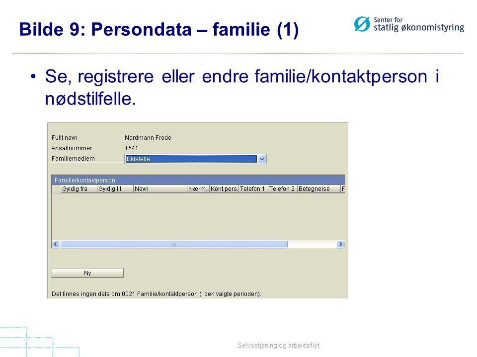 Bilde 9: Persondata – familie (1)