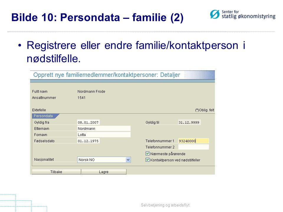 Bilde 10: Persondata – familie (2)