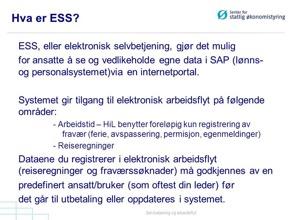 Hva er ESS ESS, eller elektronisk selvbetjening, gjør det mulig