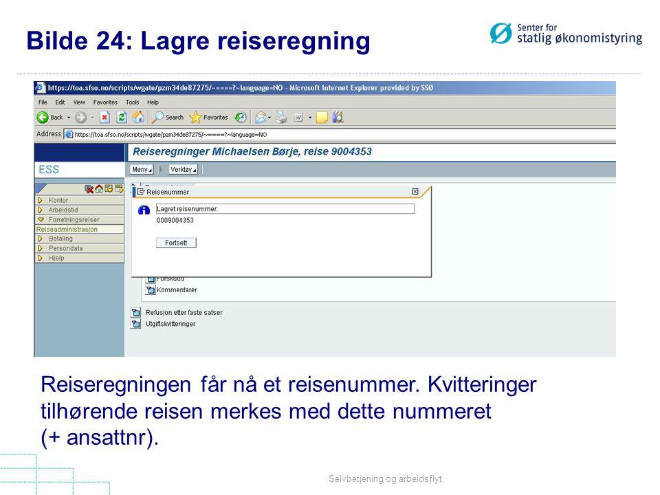 Bilde 24: Lagre reiseregning